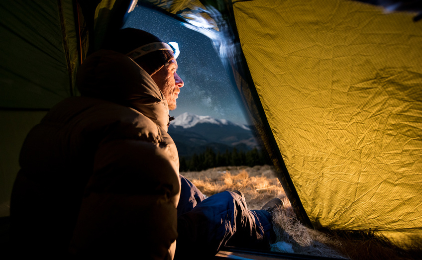 Night in a tent