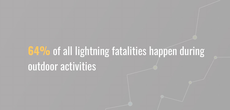 Statistics of lightning fatalities during outdoor activities