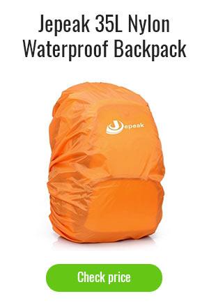 Jepeak 35L Nylon Waterproof Backpack