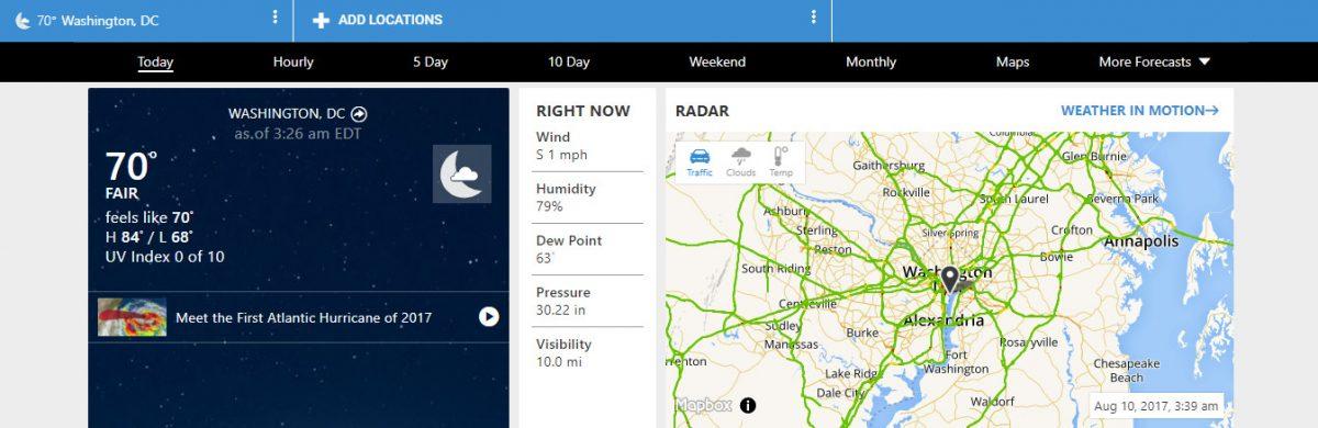 Weather.com site