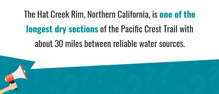 Northern California is one of the longest dry section of PCT